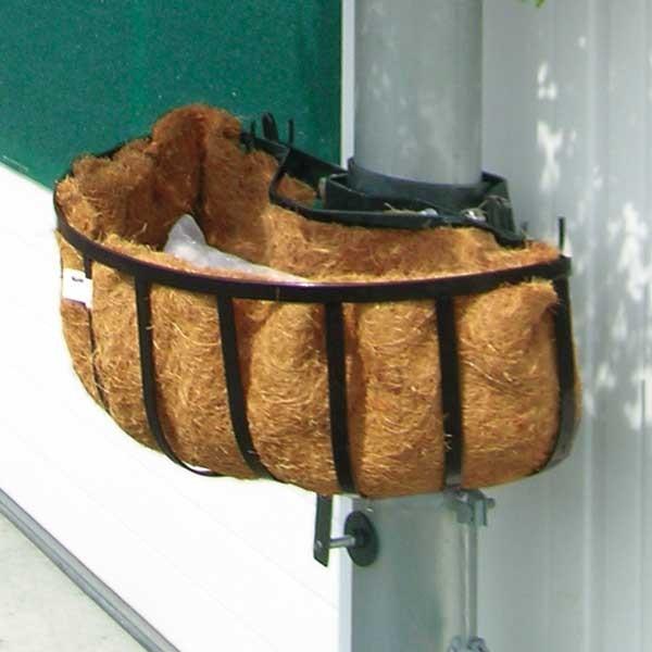 Pfosten-Basket Halbkorb mit Kokoseinlage