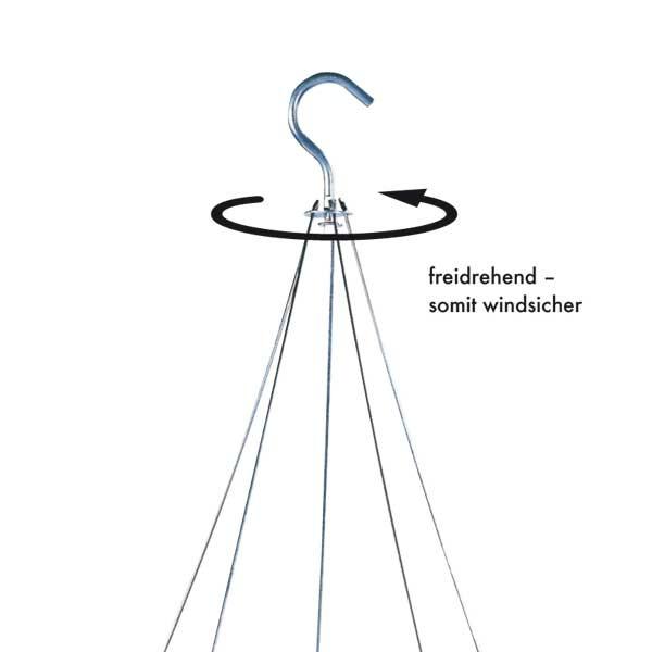 Stahldraht-Aufhängung für Ampeltopf